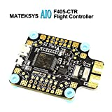 LITEBEE Matek AIO F4 Flight Controller OSD (PDB 4*30A, Bateflight OSD, BEC 5V&9V, w/AT7456E Chip, SD Card Slot, VCP+5x UARTs, Current Sensor 200A) for FPV Racing RC Drone Quadcopter