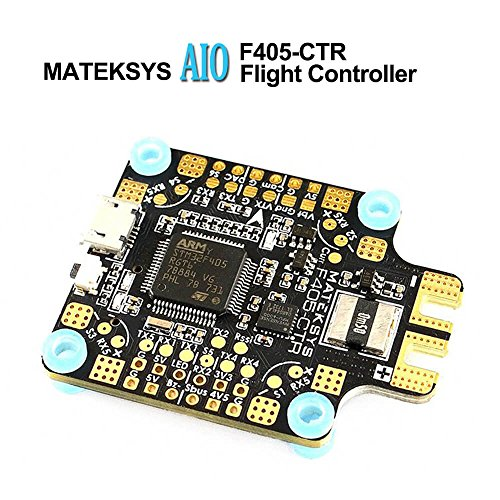 LITEBEE Matek AIO F4 Flight Controller OSD (PDB 4*30A, Bateflight OSD, BEC 5V&9V, w/AT7456E Chip, SD Card Slot, VCP+5x UARTs, Current Sensor 200A) for FPV Racing RC Drone Quadcopter (Slot Sensor)