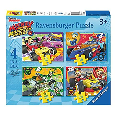 Micky Maus - Puzzle Box 4 in 1 Mickey Mouse - 12, 16, 20 und 24 Teile