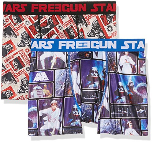 Freegun Star Wars Starwars Pack x2, Boxer Uomo, Mehrfarbig (Multicolor A3), X-Large (pacco da 2 )