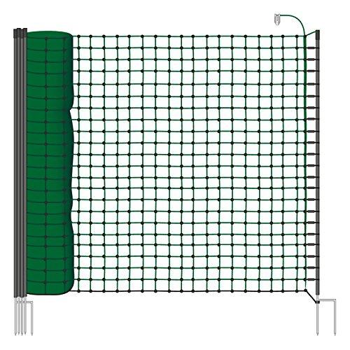 filet de clôture électrique de 25m, 110cm pour la protection de chiens, chats et la mise en sécurité du jardin