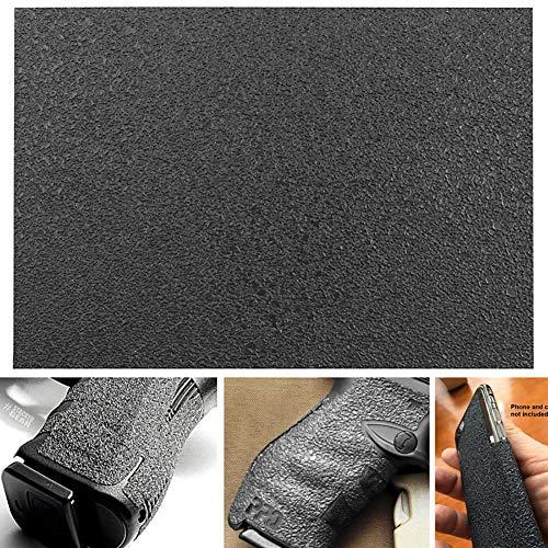 YGQersh 12x17cm / 5x21cm Ultra-Mince en Caoutchouc antidérapant Texture Gun Grips Talon Feuille de matériau - 12x17cm