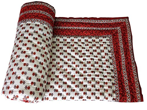 Krg Enterprises Single Quilt, Indian Quilt, Razai, Jaipuri Razai, Blanket, Quilt