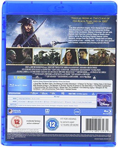 Pirates of the Caribbean: Salazars Revenge [Blu-ray] [2017]