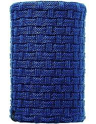 Buff Neck Warmer Knitted and Polar Reversible - Cinta de pelo para ciclismo para mujer, color azul