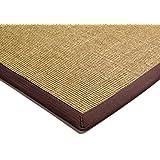 Alfombra salon sala de estar Carpet clásico Design BORDERED SISAL RUG 100% Sisal mit Bordüre Algodón 120x180 cm Rectangular Marrón | Alfombras barata online comprar