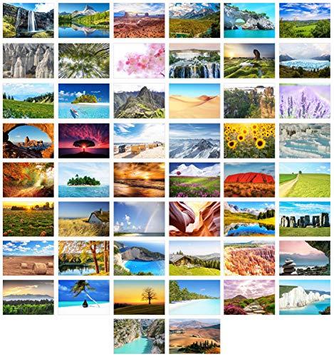 Edition Seidel Set 50 Premium Postkarten Landschaften Natur Meer Berge Wälder Täler Karten Postkarte (50 Postkarten)