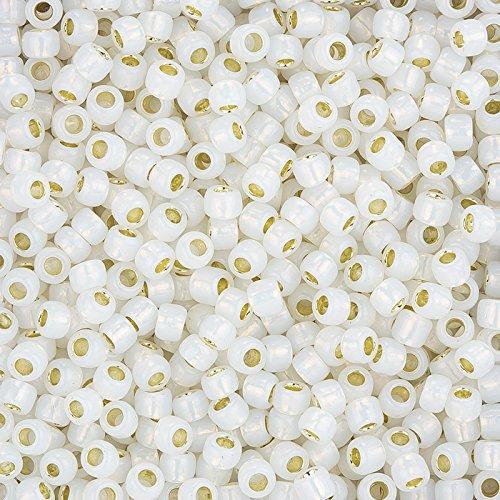 0 Toho Rocailles 6 (Toho Rocailles, Größe 6/0Silber gefüttert milchig weiß 11,5g)