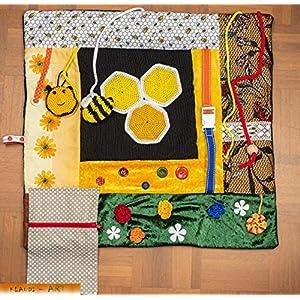 Demenzdecke Nesteldecke Fühldecke Bienen Personalisierbar