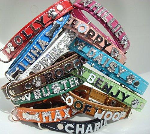 Collar Boutique Medium personalisierbar Leder Hund Halsband (Hals Größen 35cm-45cm und 41cm-51cm). Siehe Unsere Anderen LISTINGS von XSmall, klein, groß, XL und Windhund Halsbänder. -