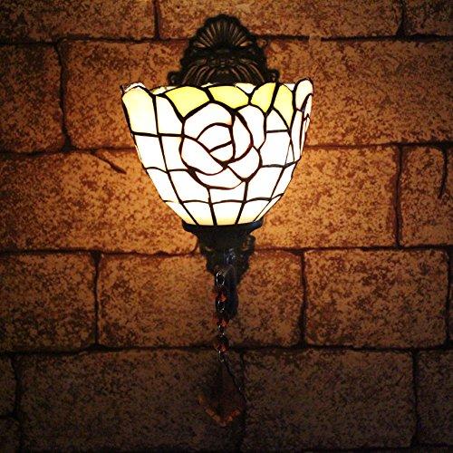 TOYM 8 pouces balcone Specchio giardino in stile europeo lampada da parete di illuminazione Tiffany Jane Europa