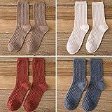 XIU*RONG Kinder Warm Im Dicken Socken Socken Alle-Match Lange Socken Socken, 35-38, Khaki M Dunkelorange