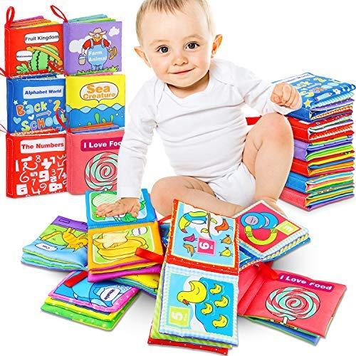 Libro activity bebé 6 Piezas Libro Blando de Bebé Aprendizaje y Educativo