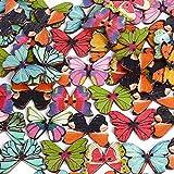200x Botones Mariposa Madera para Manualidades DIY Scrapbooking Bricolaje Costura Artesanía