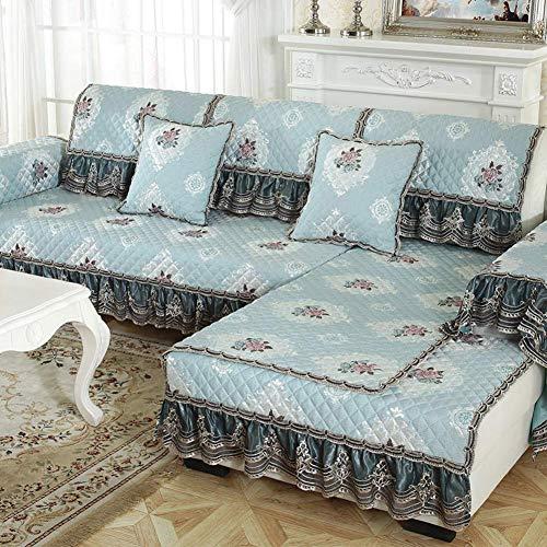ZTMN Europäische Sofabezug, verdicken Anti-Rutsch-Sofa Schonbezug Stretch-Möbel Protector Lounge Pet Dog Sectional Couch Cover-p 100x110cm (39x43inch) - Lounge-sectional