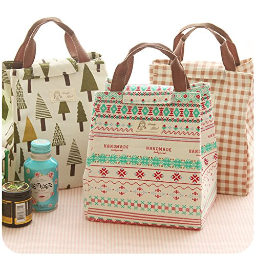 Uniqus New Cotton Linen Portable Waterproof Canvas Lunch Bag Insulation Japan Loaded with Rice Bags Tuba Lunch Large Food Containers