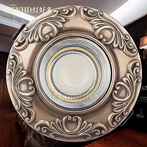 Via Light-Vintage LED faretti da incasso a soffitto a LED continentale Americana 5W Lampada fori da soffitto,bianco
