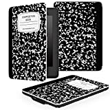 MoKo Kindle Paperwhite Case - Custodia Origami Ultra Sottile per Amazon Nuovo Kindle Paperwhite (Adatto Tutte le versioni: 2012, 2013, 2014 e 2015 Nuovo 300 ppi), Quaderno NERO