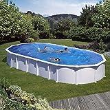 Unbekannt Gre m286662–Pool oval aus weißem Stahl Haiti kitprov8188