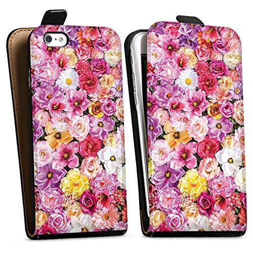 Apple iPhone X Silikon Hülle Case Schutzhülle Blütenmeer Blüten Blumen Downflip Tasche schwarz