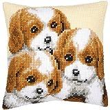 Vervaco - Kit para cojín de punto de cruz, diseño de perritos, multicolor