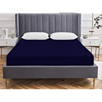 "VAS COLLECTIONS Waterproof 75""x 72"" (6.25 x 6) feet Cotton Fitted King Size Mattress Protector Bed Cover with Elastic…"
