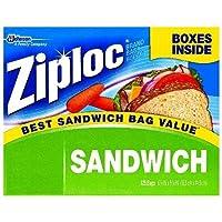 750 Bags : Ziploc Easy Open Tabs Sandwich Bags 125 count (Pack of 6)