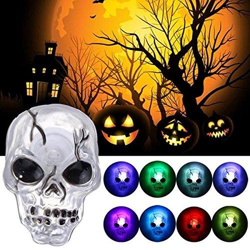 Global Farbe ändern LED Schädel Nachtlicht Sucker Halloween Party Home Decor