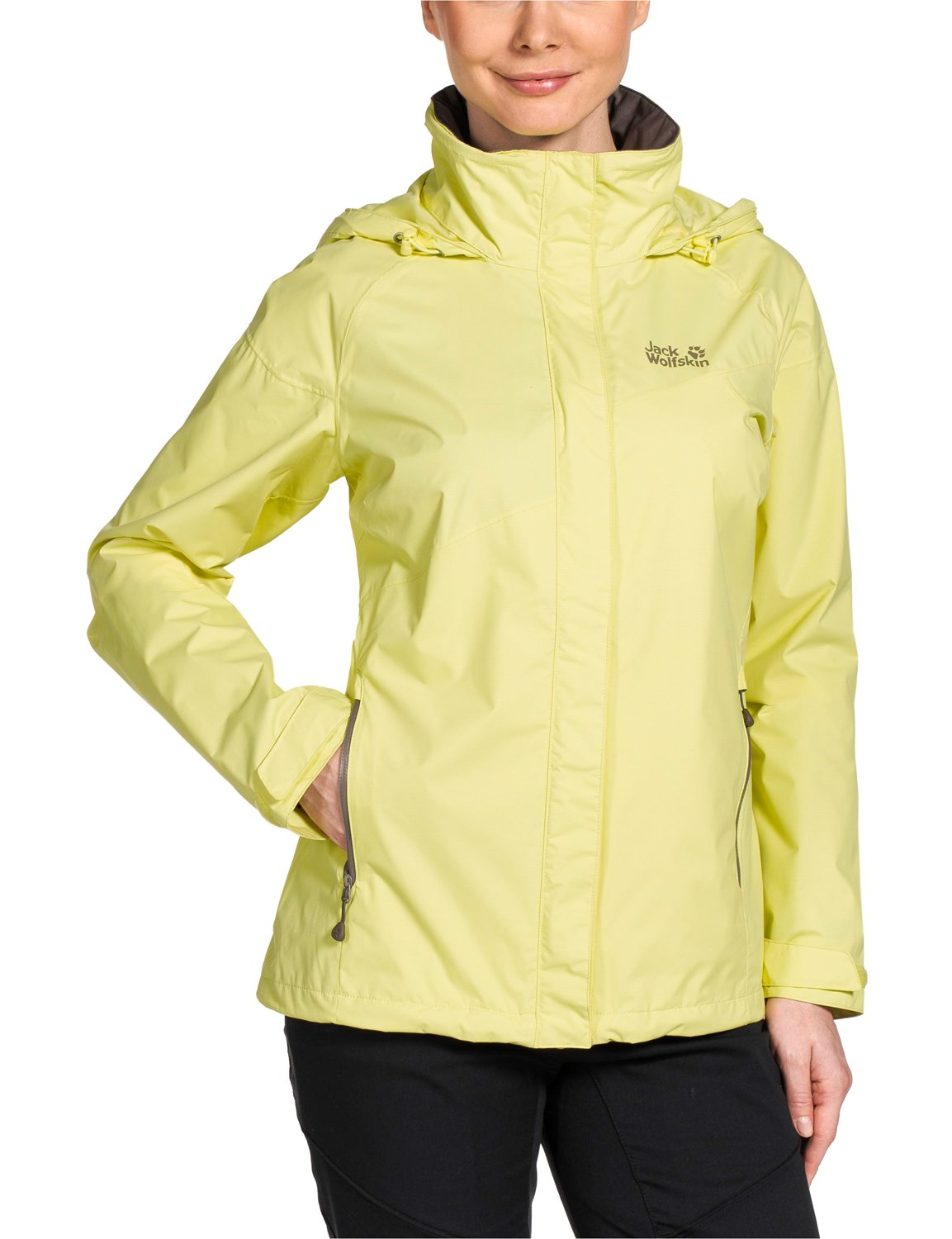 Jack Wolfskin, Giacca a vento Donna Supercell Texapore, Giallo (Lemonade), XL