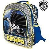 Zaino Batman 4 Cerniere Stampa Plastificata Scuola Bambini Elementari 41 cm