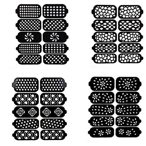 Born Pretty 10 Pcs/Planche Stencil Stickers Nail Art Fleur #K005/K006/K007/K008
