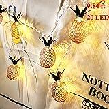 Lichterkette 3M Ananas String Liicht mit 20 Roségold Diamond LED Warmweiß, Decorative Licht for Party, Wedding, Hochzeit, Weihnachtsbaum Lichter Kette