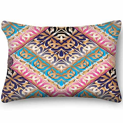 tuyi Elegance Greek Key meanders Abstract Abstract Pillowcases Decorative Pillow Covers Soft and Cozy, Standard Size 20