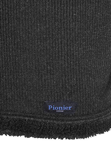 PIONIER WORKWEAR Herren Wirkflor Troyer Winter in anthrazit (Art.-Nr. 2719) Schwarz