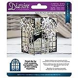 Die 'sire Cottage Fenster CLASSIQUES sterben Set, Metall, silber, 15,5x 13,4x 0,4cm
