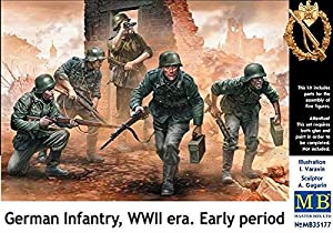 Master Box mb35177-Figuras German Infantry, WWII Early Period