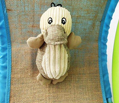 Ari_Mao Leinen Ente Pet Spielzeug Quietschende Welpen Spielzeug Kauen Spielzeug für Hunde Training