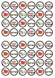 48 Happy Birthday, Alles Gute zum Geburtstag, Friseur, Essbare PREMIUM Dicke GEZUCKERTE Vanille, Reispapier Mini Cupcake Toppers, Cake Pops, Cookies für Wafer