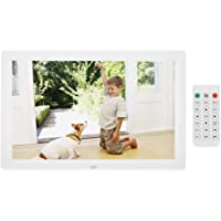 VBESTLIFE 12 Zoll Digitaler Bilderrahmen, Elektronische Bilderrahmen 1280 * 800 (16: 9) HD LED Bildschirm mit Wecker…
