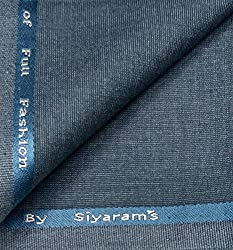 Siyarams Skin Friendly Trouser Fabrics -available sizes -1.20 metres & 1.30 metres (Blue, 1.30 metres)