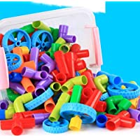 SHARNAGAT ENTERPRISE Educational Play and Learn Plastic Building Block Set Pipes Puzzle Set - Blocks for Kids ( 56…
