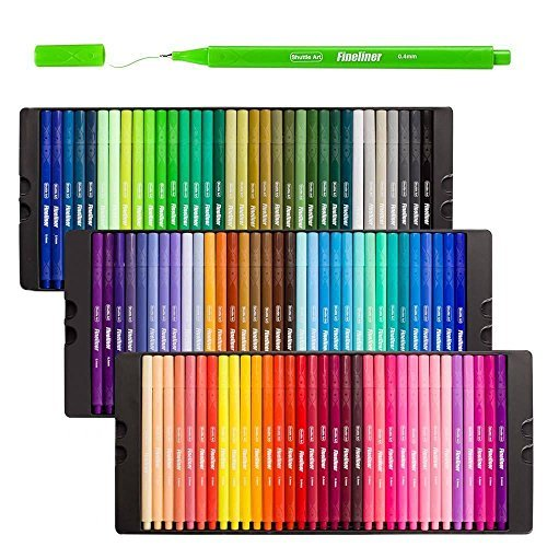Fineliner Stifte Shuttle Art 100 Farben 0 4mm Fineliner Stifte Set