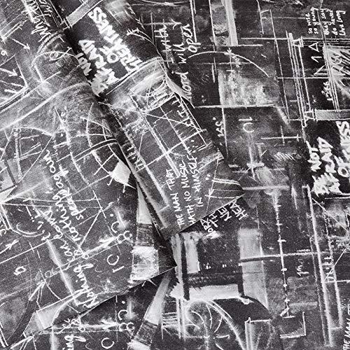 Vintage Innenfolie Hinterlässt keine Spuren Oberflächen Leicht zu reinigen 53x1000cm schwarz 53x1000cm