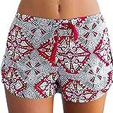 YunYoud_Frau Sexy Mittlere Taille heiße Hosen Drucken Lässige Shorts (M, Mehrfarbig)