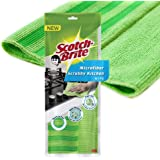 Scotch-Brite Kitchen Fabric Scrub Cloth (Pack of 1)(Color May Vary) (Green/Purple) (IE840101307)