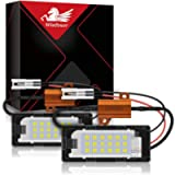 WinPower LED License Plate Light 18 SMD Number Plate Light Led 6000K Xenon White With Canbus Error Free for Touran Polo…