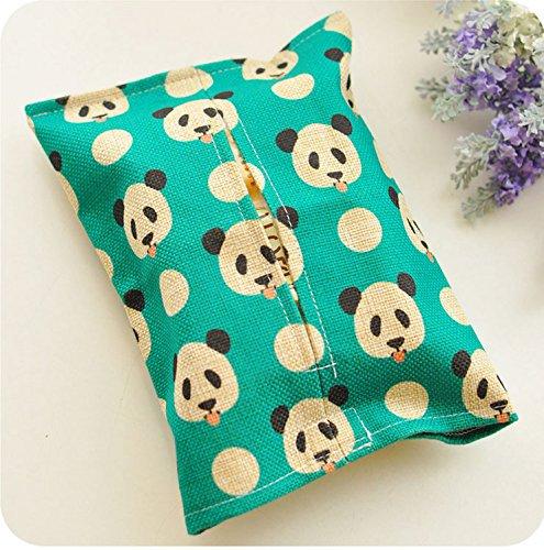Bettwäsche schöne Seidenpapier, Wohnzimmer, Speisewagen Handtuch Stoffe für Fach kreative Wohnzimmer minimalistischen Home, See Blue Panda (Bettwäsche Tissue Box Cover)