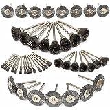 Mohoo Nueva 45pc alambre de acero de la rueda Cepillos Dremel Accesorios para herramientas rotativas