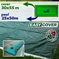 Telo di copertura invernale per piscina 25 X 50 mt con tubolari perimetrali