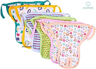 Dolphers Baby Cotton Washable and Reusable Nappy Pads with Designs, 3-6 Months (Multicolour) - Set of 6